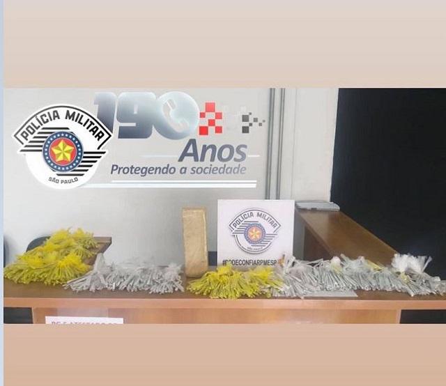 POLÍCIA MILITAR PRENDEU UM HOMEM EM SETE BARRAS COM MAIS DE 2 KG DE MACONHA