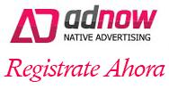 Regístrate en AdNow