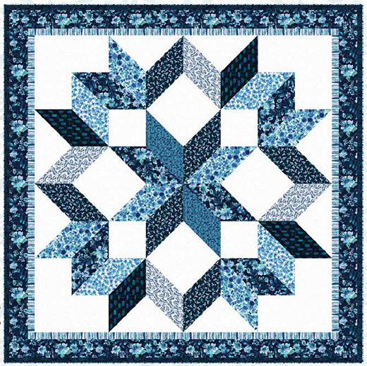 Midnight Sapphire Quilt designed by Heidi Pridemore for Henry Glass Fabrics