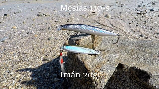 SE%25C3%2591UELOS - Lubinas desde playa con Mesias 110S y Jig Imán 20gr.