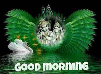 Good Morning Radha and Krishna images