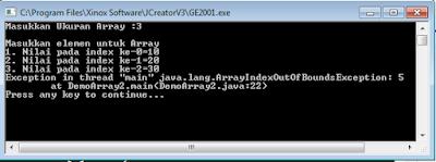 contoh array pada java