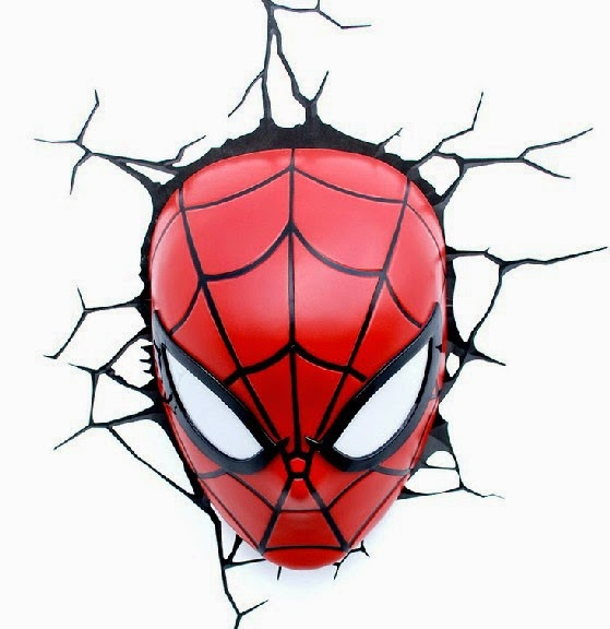3D Spider Man Mask Wall Lamps
