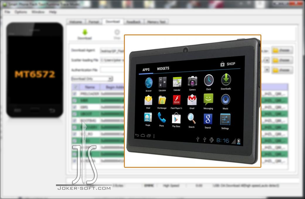 فلاشه مسحوبة للتابلت الصينى G-touch Q88 WIFI Only إصدار 4 4 2