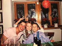 Ed, samen met Xenya en neefje Justin