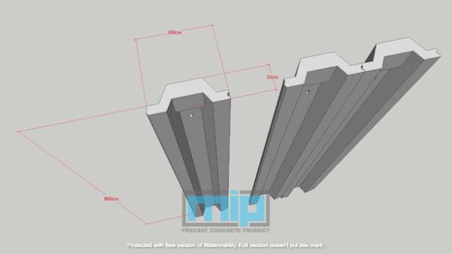spesifikasi sheet pile beton Argomulyo Salatiga