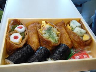 mizmzic: ちくわ稲荷寿司?
