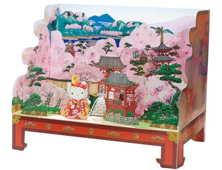 立版古で名画の世界を立体的に再現!江戸時代からある3D作品【i】 ハローキティ
