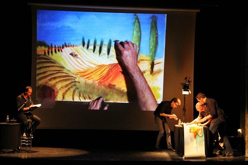 Exposition et spectacle avec Régis Lejonc.