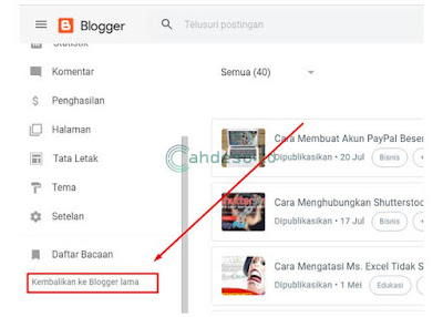 Mengembalikan Tampilan Blogger ke Versi Lama
