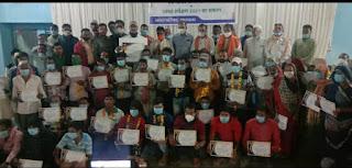 नगर परिषद ने किया सफाई कर्मचारियों का सम्मान