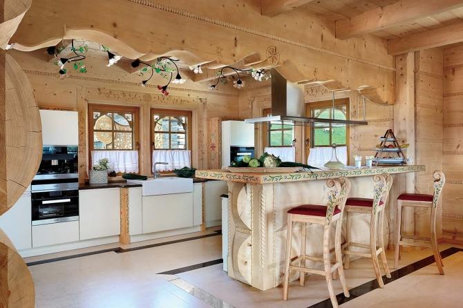 Estilo rustico caba a rustica de madera - Casas de madera por dentro ...