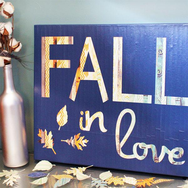 Seasonal Style Fall In Love Canvas Art Blue I Style