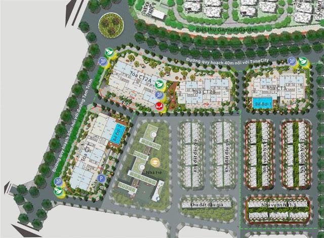 Mặt bằng phân khu toàn dự án Gelexia Riverside
