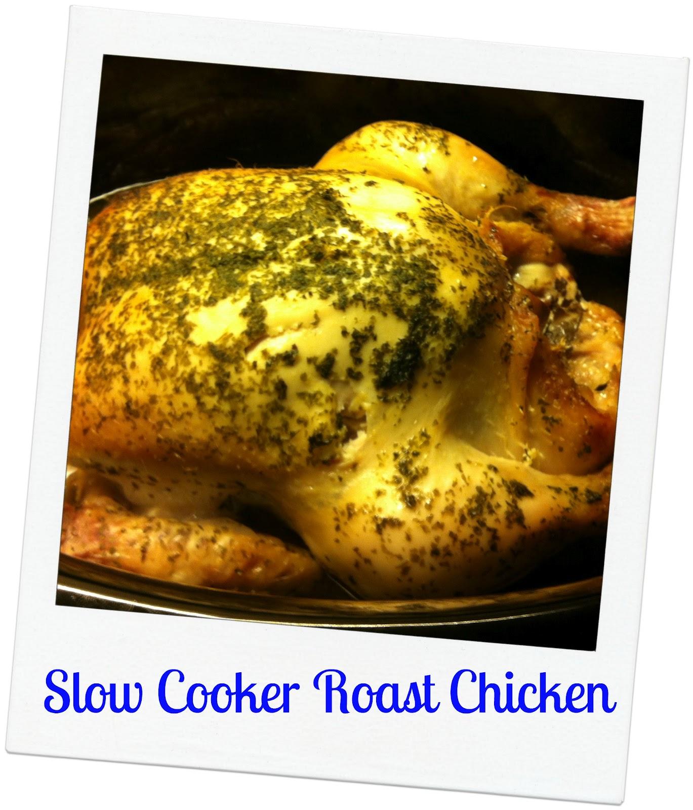 Slow Cooker Roast Chicken - mummy mishaps