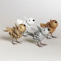 uccellini con pigne