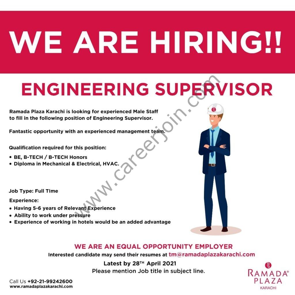 Ramada Plaza Karachi Jobs in Pakistan 2021 Latest - Send CV to tm@ramadaplazakarachi.com