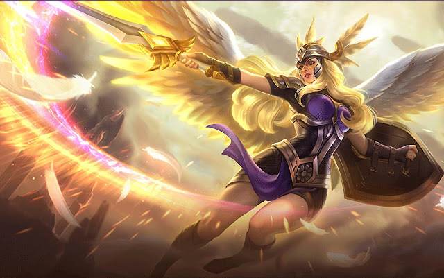 Freya Valkyrie Heroes Fighter of Skins Mobile Legends Wallpaper HD for PC