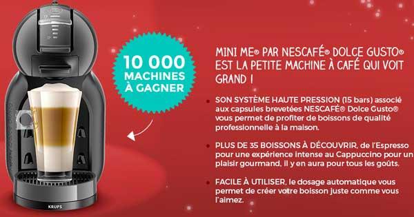 10000 Machines à Café MINI ME de NESCAFÉ Dolce Gusto à gagner !