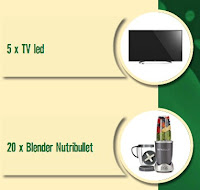 Castiga 5 TV LED + 20 Blendere Nutribullet - concursuri - online - napolact - castiga.net