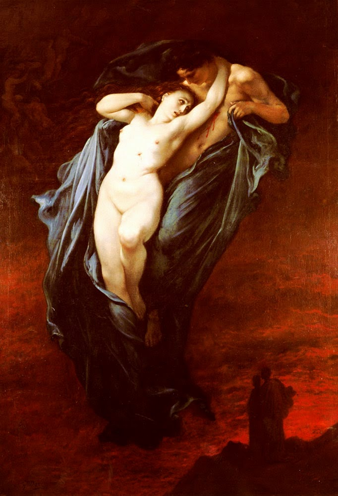 Paolo e Francesca da Rimini - Gustav Doré e suas pinturas ~ Pintor, desenhista e inlustrador francês