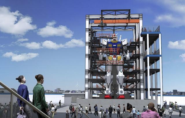 Debut Patung Gundam Raksasa di Jepang Tertunda Karena COVID-19