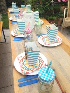 Kindergeburtstag- Tischdeko