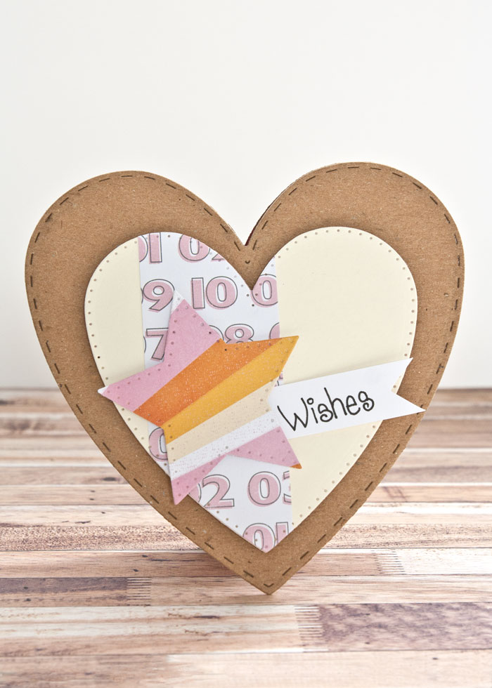 heart shaped card by Kim Dellow