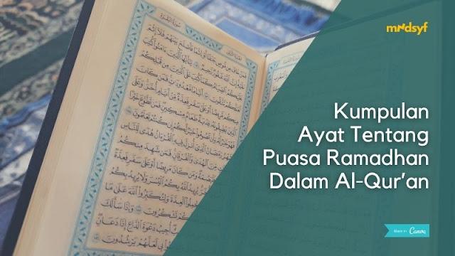Kumpulan Ayat Tentang Puasa Ramadhan Dalam Al-Qur'an