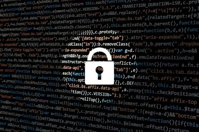 imagen de código de programación smart data bloqueado con candado