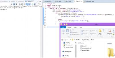 merename file dengan inputan keyboard