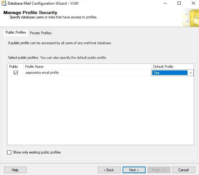SQL SERVER: Configure Database Mail using wizard
