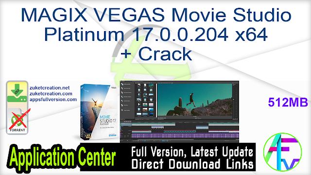 MAGIX VEGAS Movie Studio Platinum 17.0.0.204 x64 + Crack
