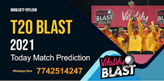 WOR vs NOT Dream11 Team Prediction, Fantasy Cricket Tips & Playing 11 Updates for Today's English T20 Blast 2021 - Jun 09