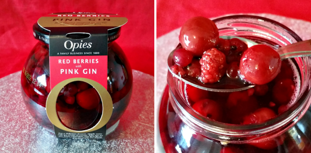 Opies Red Berries steeped in syrup infused with Pink Gin!