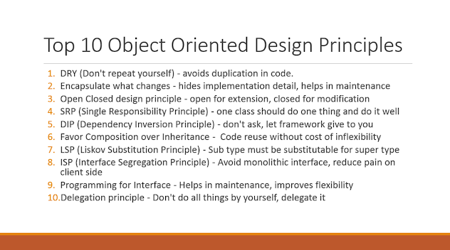 Object oriented and SOLID design principle in Java