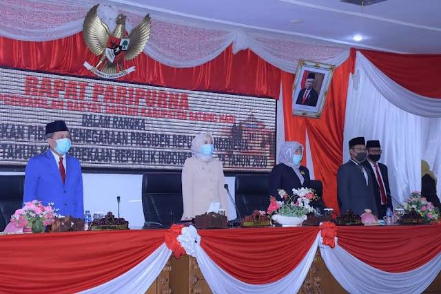 Syahirsah Hadiri Rapat  Paripurna DPRD Batang Hari dalam rangka Mendengarkan Pidato Kenegaraan Presiden RI
