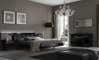 ديكورات غرفة النوم باللون الأسود