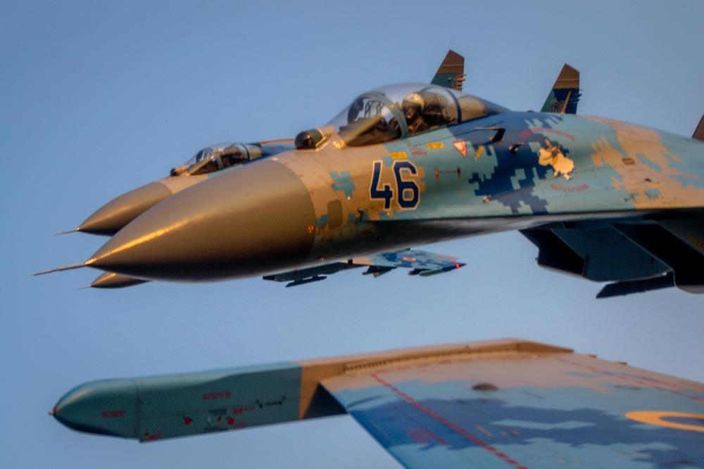 Четвірка винищувачів Су-27 зі складу 831 бригади тактичної авіації. Миргород 2014 рік