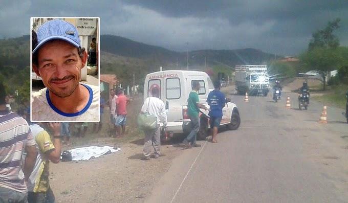 Colisão entre moto e carro deixa homem morto na BA-131, entre Jacobina e Miguel Calmon