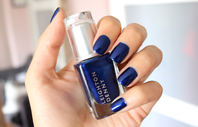 Leighton Denny Nail Polish in Inkjet review swatches