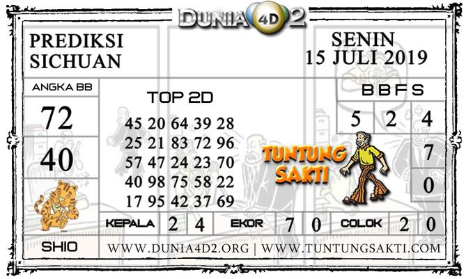 """Prediksi Togel """"SICHUAN"""" DUNIA4D2 15 JULI 2019"""