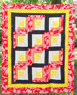 Ladybugs quilt top