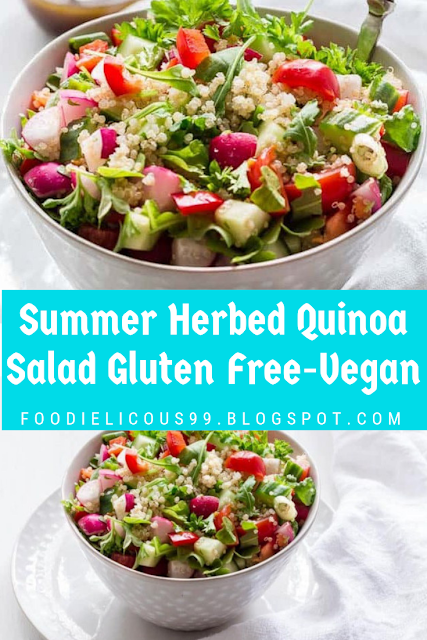 Summer Herbed Quinoa Salad Gluten Free-Vegan