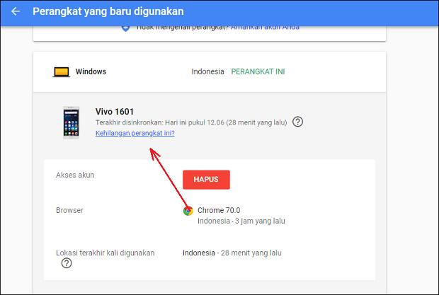Cara Melacak Hp yang Hilang Menggunakan Akun Gmail