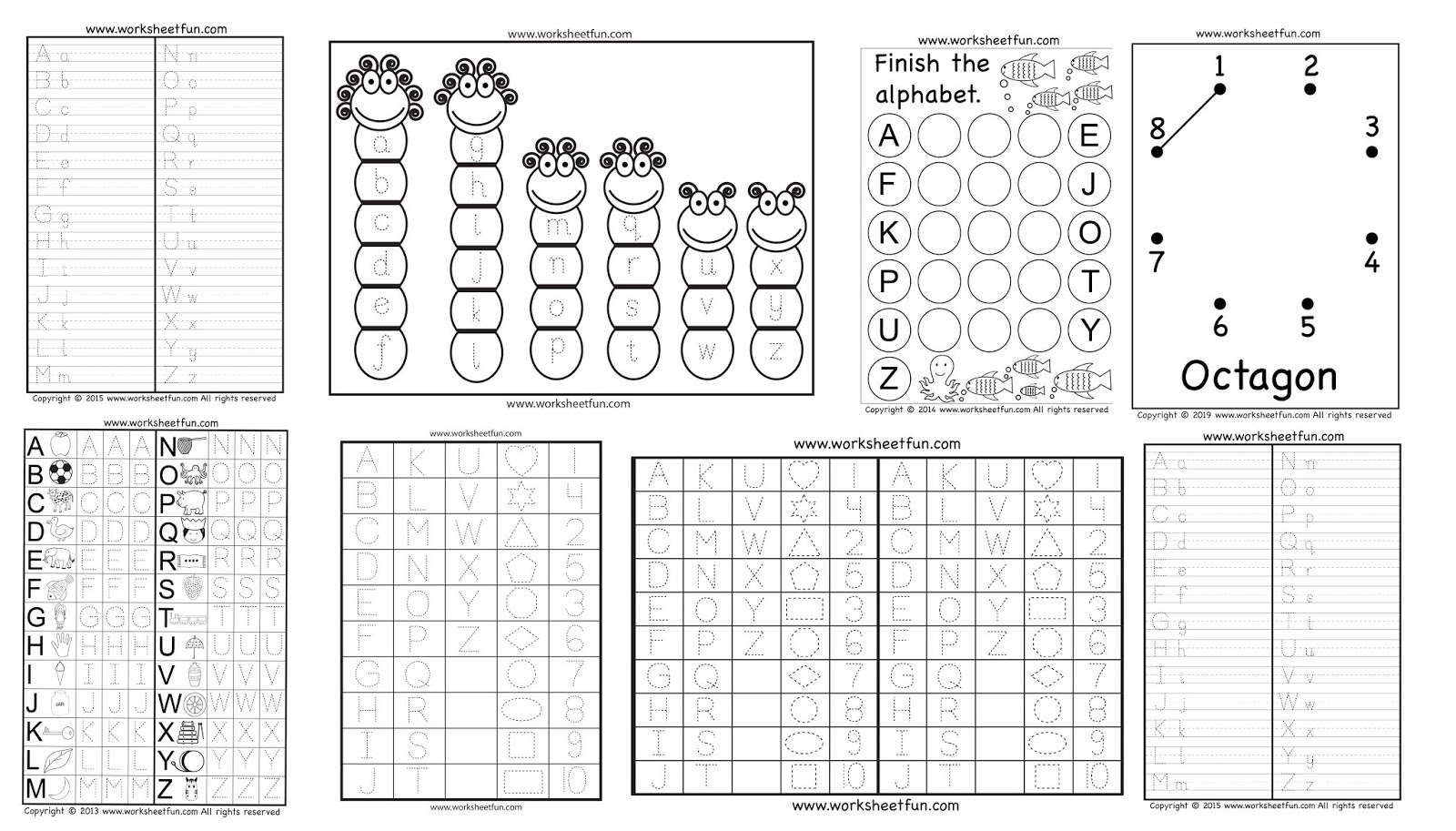 Download Letters Tracing Fill In The Blank Worksheets