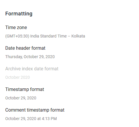 Formatting-setting-of-blogger