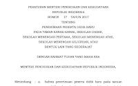 Permendikbud Nomor 17 Tahun 2017 Tentang Penerimaan Peserta Didik Baru