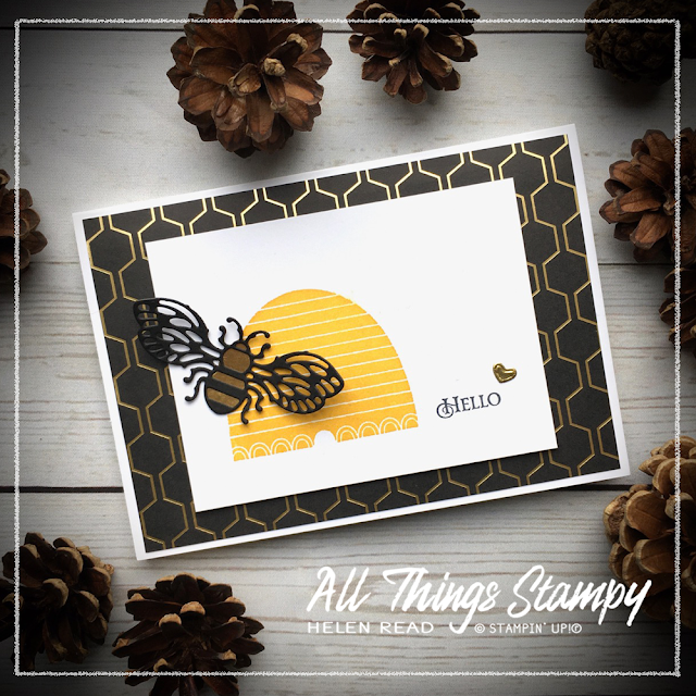 Honey Bee bundle Stampin Up Allthingsstampy Golden Honey DSP