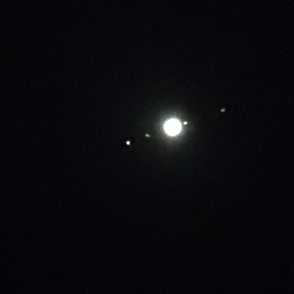 Jupiter y satélites Cielo 2020 AEA Bosque Animado Benarrabá